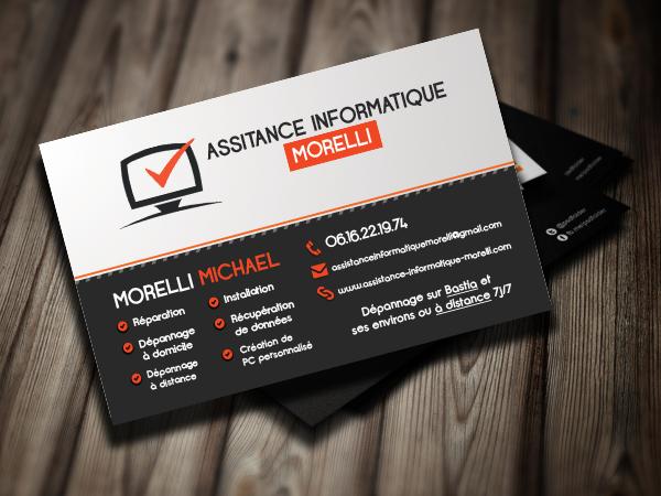 Carte De Visite Assistance Informatique Morelli